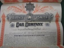 $ 1000.00 Old Barney & Smith Car Company First Mortgage Gold Bond W/ Coupons