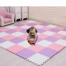 Baby Play Mat Puzzle Foam Black And White Interlocking Carpet Rug Kids Soft Pad