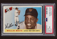 ⚾ 1955 Topps #194 WILLIE MAYS PSA 8 NM-MT Sharp! + 1951 Bowman Mickey Mantle RE
