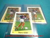 PANINI THIERRY HENRY 1998  ROOKIE X3  NEW MINT  World cup France 98/99 SUPERFOOT