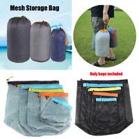Camping Sports Mesh Storage Bag Outdoor Drawstring Storage Bag Organizer Tool