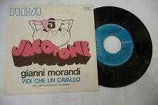 """GIANNI MORANDI""""JACOPONE-disco 45 giri RCA 1973"""""""