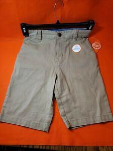 Wonder Nation Boys  School Uniform Flat Front Shorts Size 14 brown