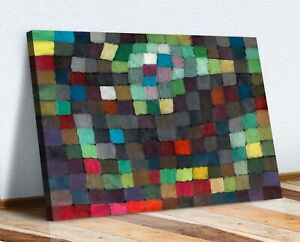 Coloured Squares Abstract Paul Klee CANVAS WALL ART PICTURE PRINT ARTWORK