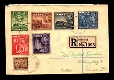 Malta 1938 KGVI Series on Cover to Austria / Registered - L13876