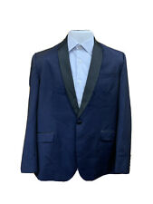 Ted Baker 'Josh' Shawl Lapel One Button Navy Wool Tuxedo Jacket Size 44