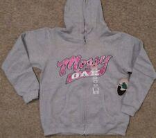 Womens Mossy Oak Hoodie Hooded Sweatshirt Gray Pink Full Zip Size Xtra Large XL