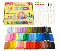 Polymer Clay 50 Colors Oven Bake Clay 8 pcs Modeling Tools Nontoxic DIY Plastic