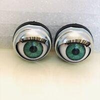 Doll Sleep Moving Eyes 14mm Blue Vinyl Doll Eyes Replacement Repair Fix