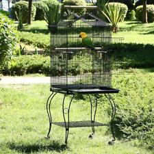 Large Metal Open Top Bird Cage Aviary For Parrot Budgerigars Canaries Cockatiels