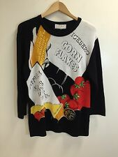 ICEBERG 1992 Vintage JC de Castelbajac Corn Flakes Big Graphic Sweater Large