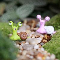 Fee Garten Puppenhaus Mini Miniatur Schnecke Bonsai Figur Dekor Dekor New V0E7