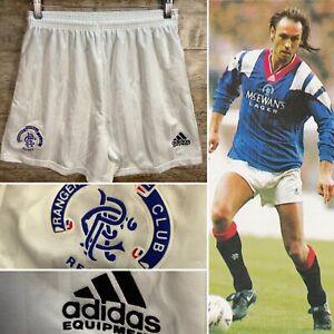 """36"""" 1992/93/94 Glasgow Rangers Adidas Shorts - VTG Retro 90s Kit -Hately McCoist"""