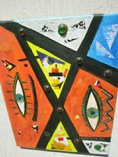Collage/Painting by Listed Artist Al C. Razza Collage/Painter  Teacher & Artist