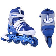 Pink/Blue Boys Girls Roller Blades Inline Skates Adjustable 3 Sizes Skating Fun