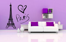 Wall Vinyl Sticker Room Decals Mural Design Art Eiffel Tower Paris Love  bo1122