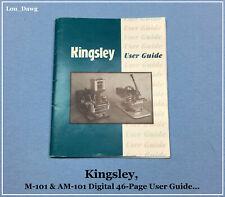 Kingsley Machine ( M-101 & AM-101 Digital User Guide ) Hot Foil Stamping Machine
