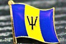 BARBADOS Barbadian Metal Flag Lapel Pin Badge *NEW*