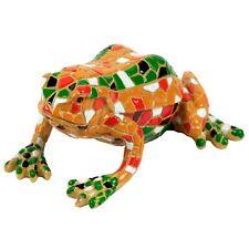 Yellow Mosaic Finish Garden Frog Ornament Animal Statue