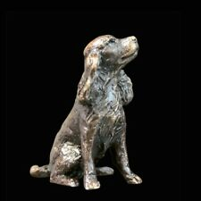 Spaniel Dog Bronze Foundry Cast Detailed Sculpture by Butler And Peach [2077]