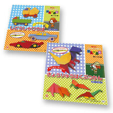 """Origami Paper Cars and Dinosaurs 6"""" Challenge Collection Double Pack"""