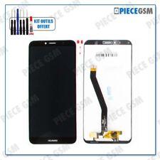 ECRAN LCD + VITRE TACTILE pour HUAWEI HONOR 7A NOIR + outils + colle B7000