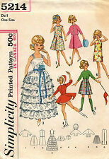 """1960's VTG Simplicity Wardrobe For Tammy and Jan Dolls Pattern 5214 12"""" Tall"""