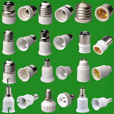 55+ TYPES OF LIGHT SOCKET ADAPTOR BASE CONVERTER EXTENDER LAMP HOLDER BC ES GU10