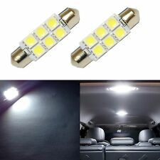 2 Super White 42mm 578 LED 211-2 Bulbs Festoon 5050 Dome Map Cargo Light 2xC4