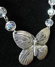 Butterflights of fancy necklace! beaded rosary chain butterfly butterflies