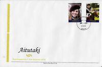 Aitutaki 2011 FDC Royal Engagement 2v Set Cover Prince William Kate Middleton