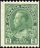 1924 Mint H Canada 2c F+ Scott #133 Admiral KGV Coil Stamp