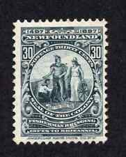 Newfoundland #72 30 Cent Slate Colony Seal Discovery of Newfoundland Issue MLH