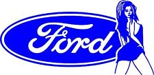 FORD Girl Sticker 250 mm x 120 mm   Quality Stickers for Outdoor Use.