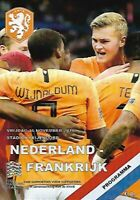 NETHERLANDS V FRANCE Match Programme 2018/2019 - 16th November 2018 (Holland)