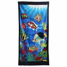 Exotic fish beach towel Bath Wholesale lot of 6 100% cotton Free Shipping new