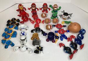 Mini Mr Potato Head Marvel Mash-ups Avengers Star Wars HUGE MIXED LOT 56 Items