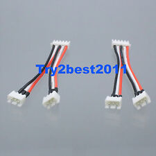 2pcs 4s to 2s 7.4v Lipo battery charger balance adapter Align JST/XH imax BC6