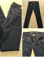 American Eagle AE Super Stretch 2 Short Jeans Dark Destroyed Stretch Denim