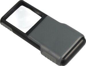 Carson Optics PO-55 5X Power Slide Up Minibrite Magnifier w/ Built In LED Light
