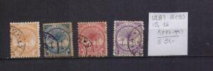 ! Samoa 1887-1899.   Stamp. YT#12(B),13(B),15,16. €51.00!