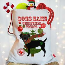 NERO Personalizzato LABRADOR DOG PUPPY NATALE considera Santa Sacco PET coefficiente