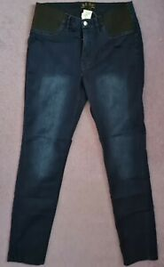 LADIES NAVY BLUE STRETCH JEANS  SIZE 16 INSIDE LEG 31 INCHES