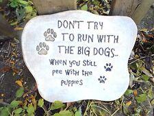 Run with big dogs plastic mold plaster concrete bulldog mould