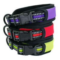 4cm Wide Reflective Dog Collars Soft Padded Safety Nylon Collars Bulldog Pitbull