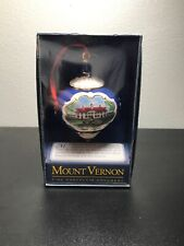 Mount Vernon Porcelain Christmas Holiday Collectible  Ornament