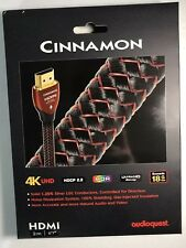 "Audioquest Cinnamon 2m 6.6"" HDMI Cable BRAND NEW"