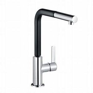 Küchenarmatur Spültisch Armatur Brause KLUDI L-INE S 408518775 chrom/schwarz