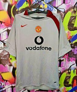 Manchester United FC 2004 2005 Football Shirt Soccer Jersey Top Nike Mens XXL