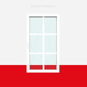 Sprossenfenster Typ 6 Felder Weiß 26mm SZR Sprosse 1 flg. Dreh-Kipp Fenster